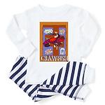 Crawfish Abstract Toddler Pajamas