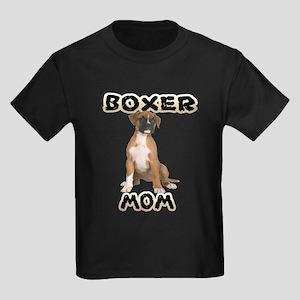 Boxer Mom Kids Dark T-Shirt