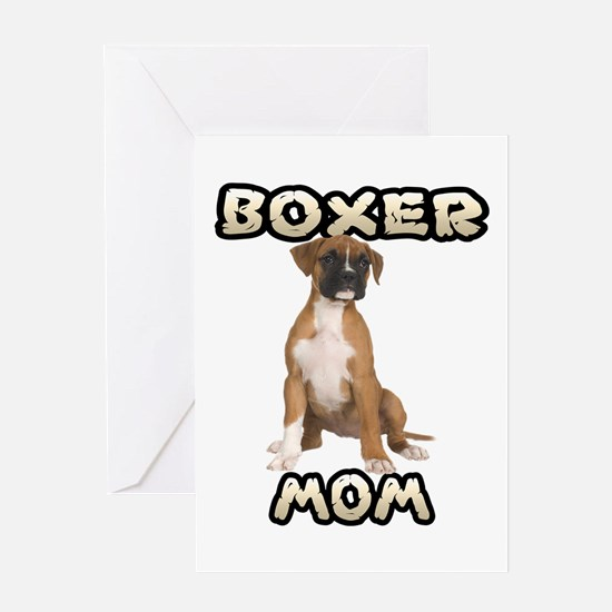 Boxer Mom Greeting Card