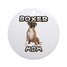 Boxer Mom Ornament (Round)