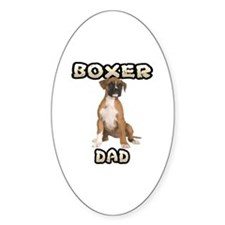 Boxer Dad Sticker (Oval)