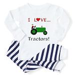 I Love Green Tractors Toddler Pajamas