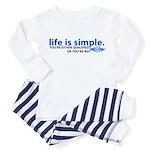 Life is Simple Toddler Pajamas
