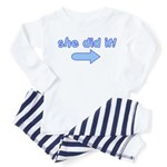 she did it (arrow left) Toddler Pajamas