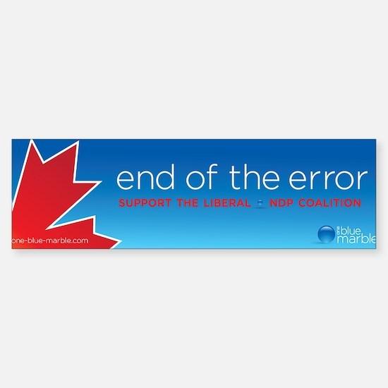 End of Error, Bumper Sticker (10 pk)