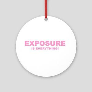 Exposure pink Ornament (Round)