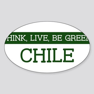 Green CHILE Oval Sticker
