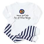 War Peace symbol Toddler Pajamas