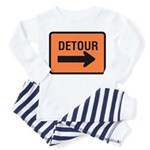 Detour Sign - Toddler Pajamas