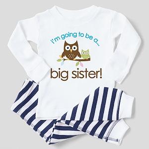 aa773ba29 Big Sister Owl Toddler Pajamas - CafePress