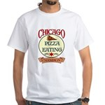 Chicago Pizza Eating Champion White T-Shirt