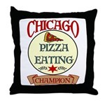 Chicago Pizza Eating Champion Throw Pillow