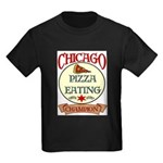 Chicago Pizza Eating Champion Kids Dark T-Shirt