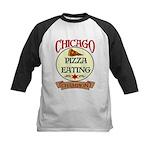 Chicago Pizza Eating Champion Kids Baseball Jersey