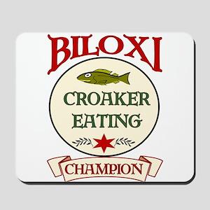 Biloxi Croaker Eating Champ Mousepad