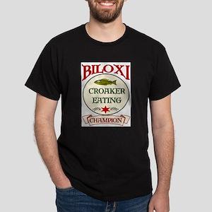 Biloxi Croaker Eating Champ Dark T-Shirt