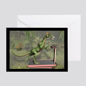 Dragon Exercise Greeting Card