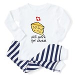 Work for Cheese Toddler Pajamas