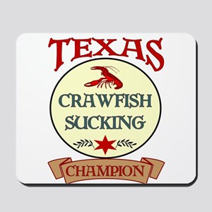 Crawfish Eating Champ Mousepad