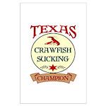 Crawfish Eating Champ Large Poster