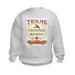 Crawfish Eating Champ Kids Sweatshirt