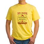 Crawfish Eating Champ Yellow T-Shirt