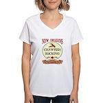 Crawfish Eating Champ Women's V-Neck T-Shirt