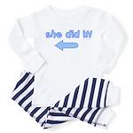 she did it (arrow right) Toddler Pajamas