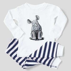 Cute Rhino Toddler Pajamas