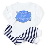 kiss me, i'm adopted Toddler Pajamas