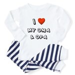 I Love My Oma & Opa Toddler Pajamas