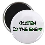 """GLUTEN IS THE ENEMY 2.25"""" Magnet (10 pack)"""