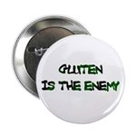 """GLUTEN IS THE ENEMY 2.25"""" Button (10 pack)"""