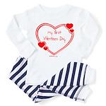 Babys First Valentines Day Toddler Pajamas