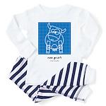moo print Toddler Pajamas