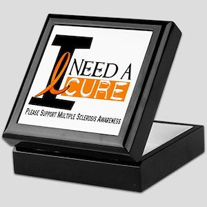 I Need A Cure MS Keepsake Box