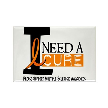 I Need A Cure MS Rectangle Magnet (100 pack)