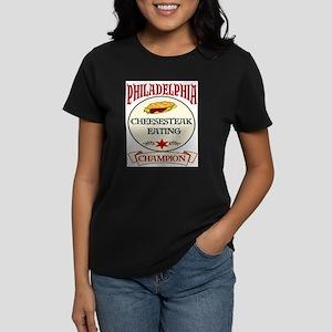 Philadelphia Cheesteak Eating Women's Dark T-Shirt