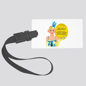 Pineapple Flapper Luggage Tag