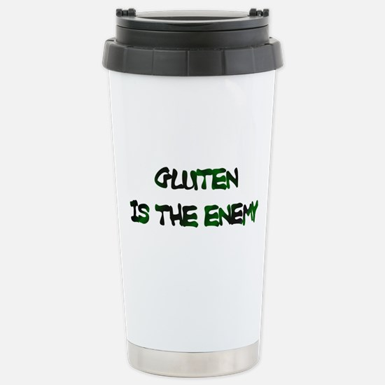 GLUTEN IS THE ENEMY Travel Mug