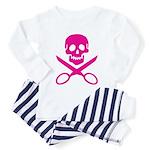 Fuchsia Jolly Cropper Toddler Pajamas