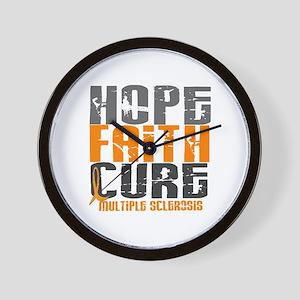 HOPE FAITH CURE MS Wall Clock