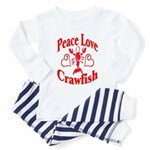 Peace Love Crawfish Toddler Pajamas