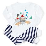 Scuba Diving Santa Toddler Pajamas