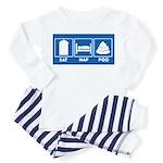 eat nap poo sign Toddler Pajamas