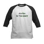 GLUTEN IS THE ENEMY Kids Baseball Jersey