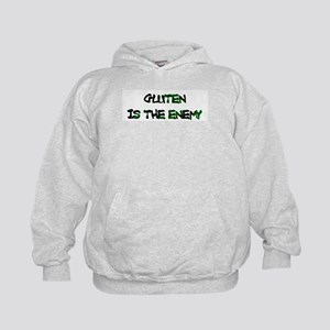 GLUTEN IS THE ENEMY Kids Hoodie
