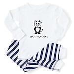 evil twin (panda design) Toddler Pajamas