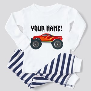 a3f6e42d30 Red Monster Truck Personalized Toddler Pajamas