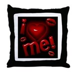 I Heart Me Throw Pillow Black / Red